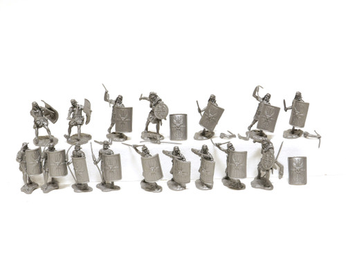 Conte Collectibles Roman Army Set 1 Plastic Toy Soldiers Silver