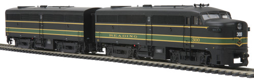MTH Trains 80-2095-1 Reading Alco FA-1 A/B Diesel Engine Set PS3 HO Scale
