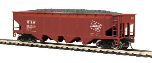 MTH Trains 80-75012 Milwaukee Road 70 Ton Quad Hopper Road No 370528 HO Scale