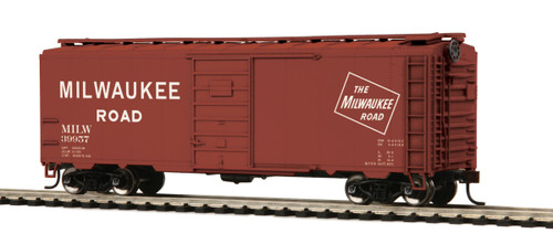 MTH Trains 85-74099 Milwaukee Road 40' PS-1 Box Car Road No 39957 HO Scale