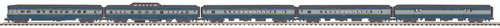MTH Trains 20-65221 Baltimore & Ohio 5-Car 70' ABS Streamlined Passenger Car Set