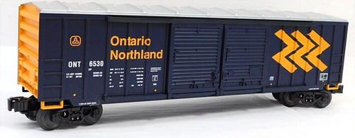 Lionel Trains 6-27223 Ontario Northland Double Door Box Car w/ Auto Frame Load