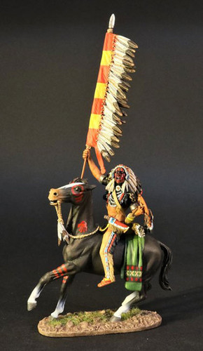 John Jenkins Designs WSP-07 The Fur Trade Crow Warrior With Flag