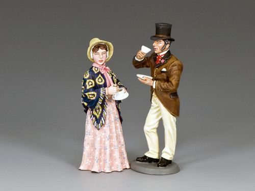 King & Country Soldiers WOD048 World Of Dickens The Coffee Couple