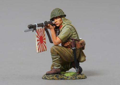 Thomas Gunn Miniatures RS063 WWII Kneeling Japanese Rifleman With Flag