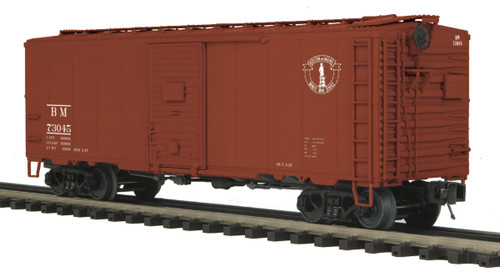 MTH Trains 20-93500 Boston And Maine 40' AAR Box Car Road No 73045 O Scale