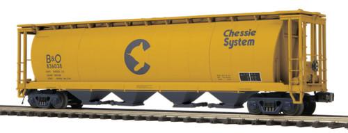 MTH Trains 20-97816 Chessie 100 Ton Covered Hopper Car No 836038 O Scale