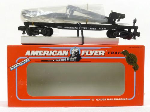 American Flyer Lionel  6-49009 American Flyer Flatcar with Derrick S Gauge
