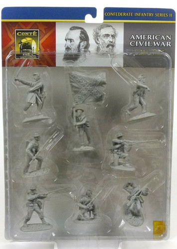 Conte Collectibles American Civil War Plastic Figures Confederate Infantry Series 2 in Gray