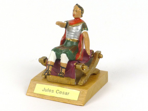 CBG Mignot 402 Julius Caesar Seated on Red and Gold Gilded Chair