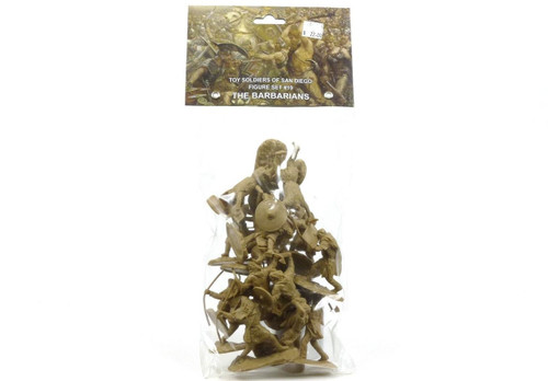 Toy Soldiers Of San Diego The Barbarians Set 19 1/32 Scale Tan Plastic Figures