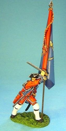 John Jenkins Designs BJ-08 Jacobite Rebellion Officer With Regimental Colours