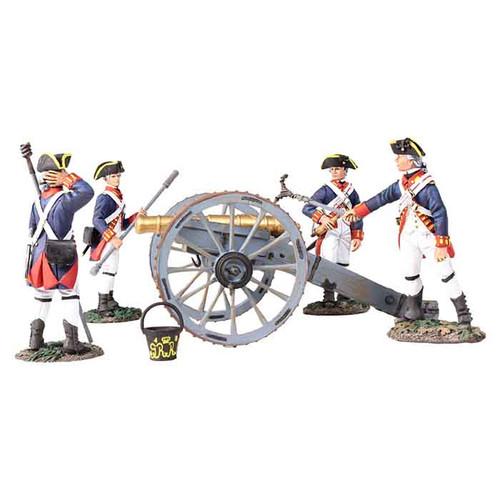 WBritain 16015 Clash of Empires British Royal Artillery 6 Pound Gun with 4 Man Crew