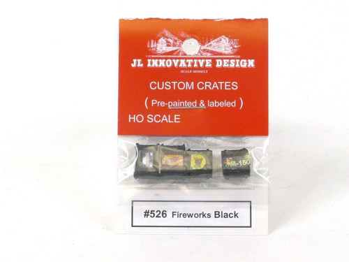 JL Innovative Design 526 Fireworks Black Custom Crates HO Scale Trains Scenery