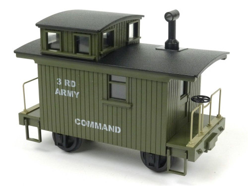 Hartland Locomotive Works 3rd Army Command Bobber Caboose G Scale Model Trains