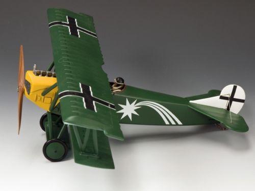 King & Country Soldiers FW113 WWI Fokker DVII O/Leut Harald Auffarth Jasta 29