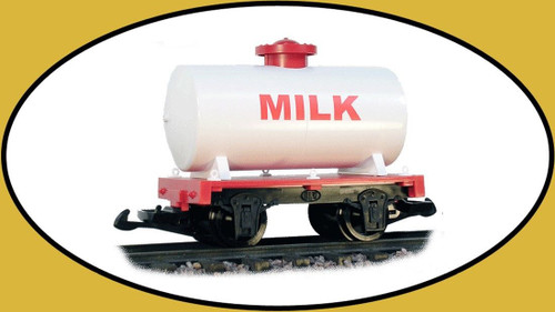 Hartland Locomotive Works Milk Tank Car 15431 G Scale Model Trains Railroads