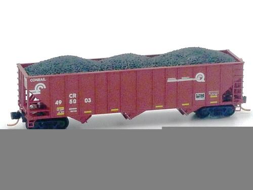 Conrail 100-ton 3-bay Open Hopper #495029 N Micro Trains Line #10800322 Freight Cars