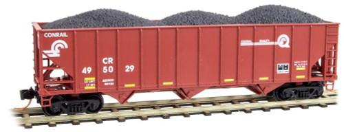 Micro-Trains Line N Scale Conrail Hopper With Coal Load Freight Cars 10800322