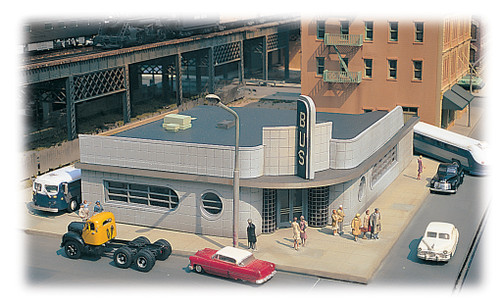 Bachmann 88005 Bus Station Building Kit HO Scale Model Trains