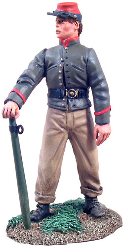 WBritain Toy Soldier 31085 Confederate Infantry Crewman Holding Trail Spike No. 1