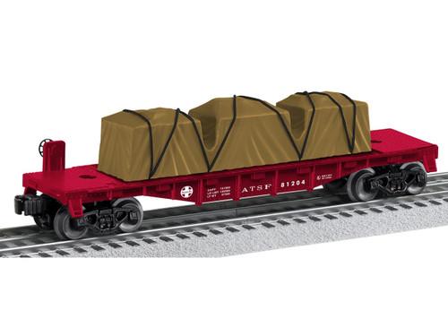 6-81204 Santa Fe Flatcar O Gauge