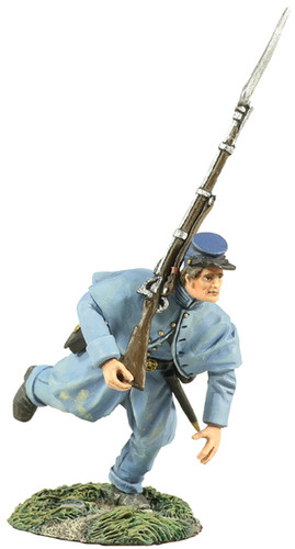 WBritain Soldier 31170 Union Infantry In Overcoat Charging At Right Shoulder Shift No. 2