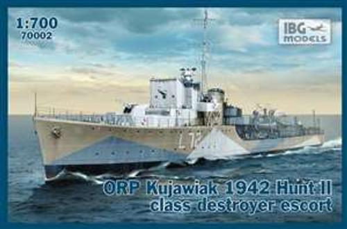 IBG Models 1/700 ORP Kujawiak 1942 Hunt II Class Destroyer Escort - IBG70002
