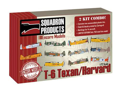 1/72 Encore T-6 Texan/Harvard '2 KIT COMBO' - EC72105