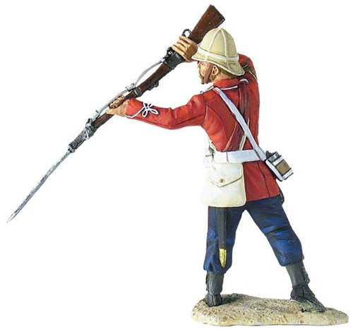 W Britain Anglo-Zulu War 20142 3rd (East Kent) Regiment, The Buffs, Sgt. Milne Standing Parrying with Bayonet