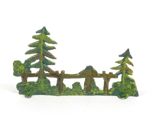 Hornung Art Miniatures Scenery Small Trees And Fence 62L Hand Painted Metal Cast