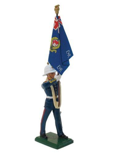 W Britain Soldiers 43078 Ceremonial Royal Marine Std Bearer Regimental Colour