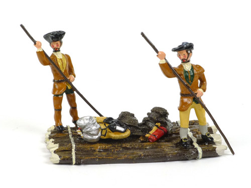 Garibaldi & Co Toy Soldiers F4B Raft with Coureurs du Bois French Canadian Woodsman