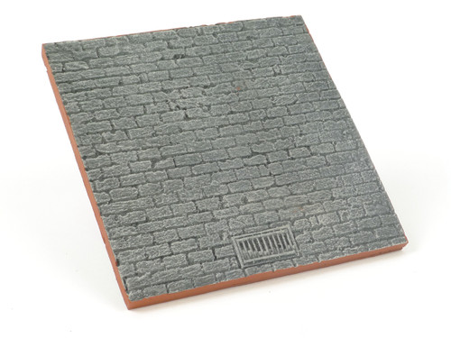 All Diorama Cobbled Street Base with Drain ADF006