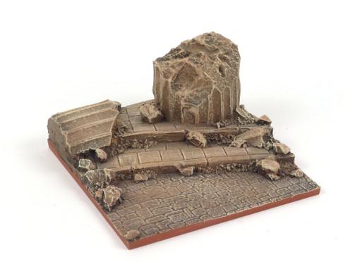Base for vignettes, Mediterranean ruin
