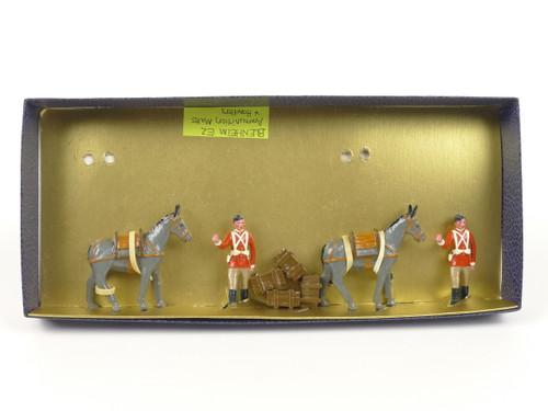 Blenheim Military Models British Mule Handlers with crates