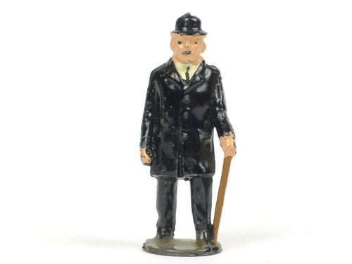 Johillco Toy Soldiers Railroad Old Gentleman Passenger with cane #135F