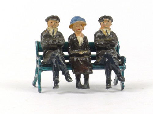 Johillco Railway Staff Station Seat (bench) with 3 Passengers