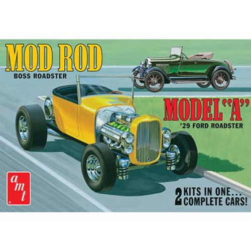 AMT Plastic Models 1002 1929 Ford Model A Roadster 1/25 Scale