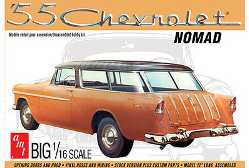 AMT Plastic Models 1005 1955 Chevy Nomad Wagon 1/16 Scale