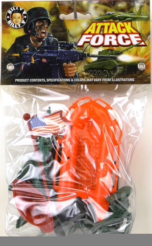 Billy V Toys 41046 Attack Force New Plastic Toy Soldiers Bag Set 1/32 Scale