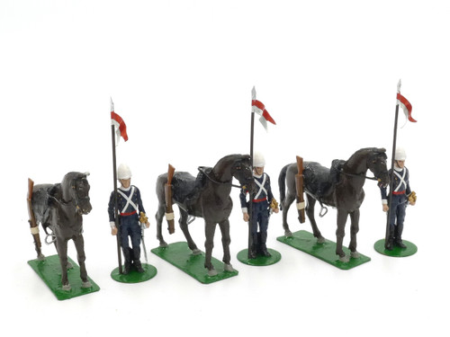 Alymer Toy Soldiers Set AB-53 17th Lancers at Attention Dismounted
