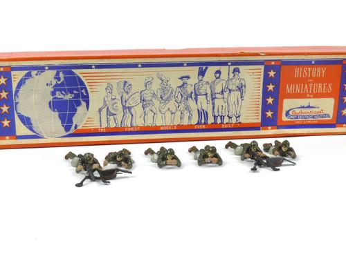 Authenticast Toy Soldiers Set 861 Swedish Machine Gun Set 1946