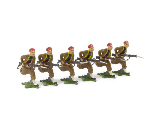 Authenticast Comet Toy Soldiers Set 612 French Zouaves Field Uniform 1945