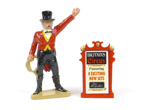 Britains Circus Ringmaster And Billboard 8666 W Britain LE Collectible Figure