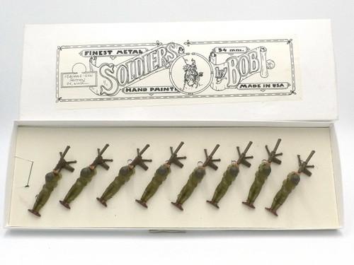 Toy Soldiers Machine Gunners Lying Firing World War II Yeknik Collection