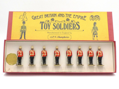 APN Humphries Toy Soldiers Scots Guards at Attention Egypt 1882