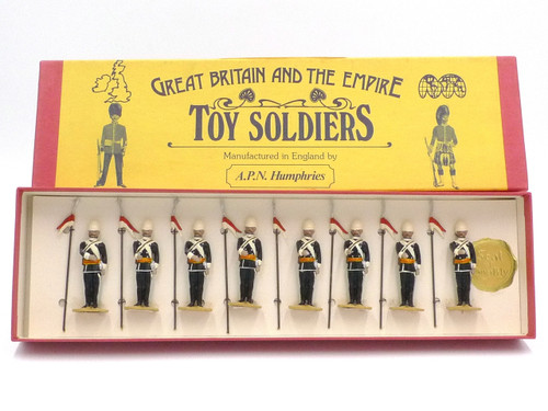 APN Humphries Toy Soldiers 17th Lancers Dismounted at Attention