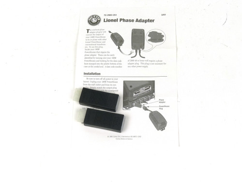 Lionel Phase Adapter for 180W Powerhouse Transformer 72-2983-251