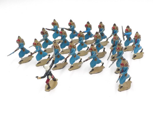 Comet Toy Soldiers FR656 French Moroccans Charging with Officer